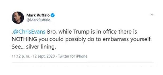 El tuit de Mark Ruffalo