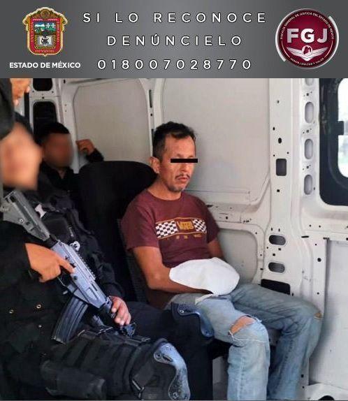 El doble feminicida fue detenido en Sinaloa, se le buscaba por el asesinato de dos de sus novias Foto: Fiscalía de Justicia Edomex