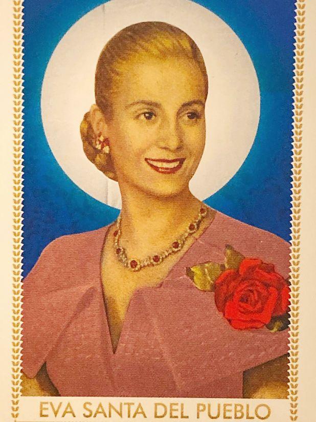 """La estampita de """"Eva Santa del Pueblo"""""""