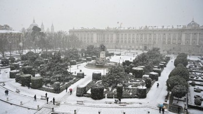 Vista general del Palacio Real en Madrid (GABRIEL BOUYS / AFP)