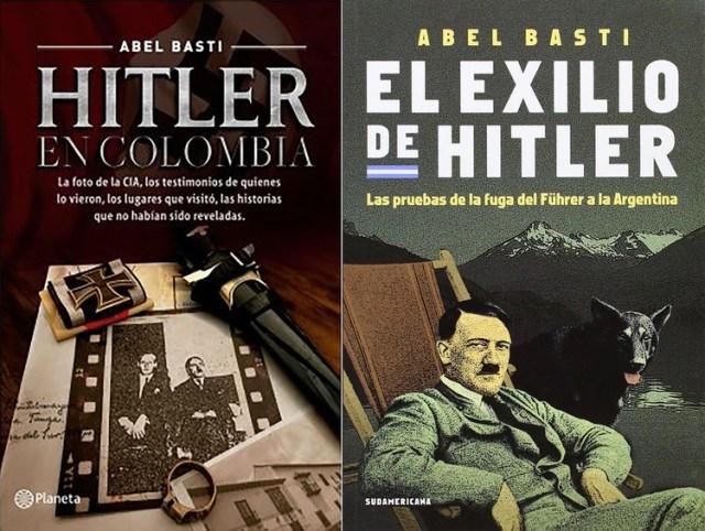 Algunos de los libros de Basti con sus investigaciones sobre Hitler