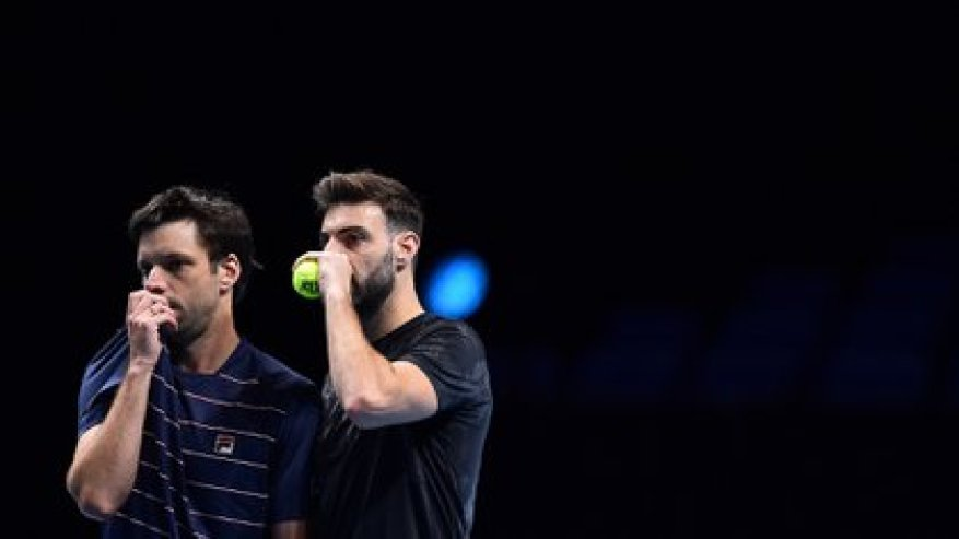 Zeballos and Granollers were one step away from the ATP Finals doubles semifinals (Glyn KIRK / AFP)