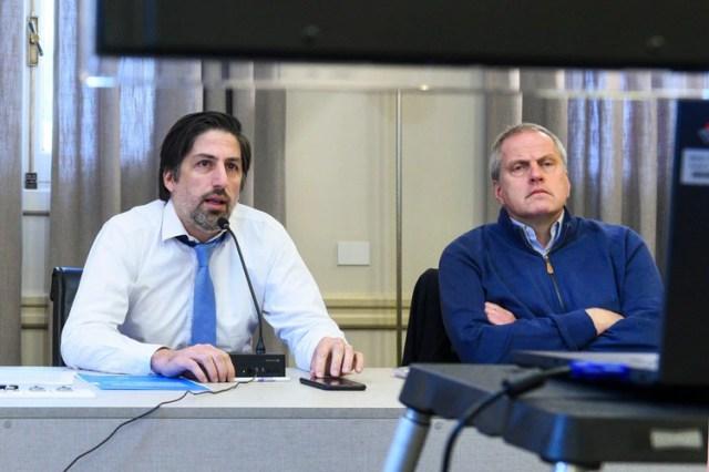 El ministro de Educación, Nicolás Trotta, junto al secretario de Políticas Universitarias, Jaime Perczyk