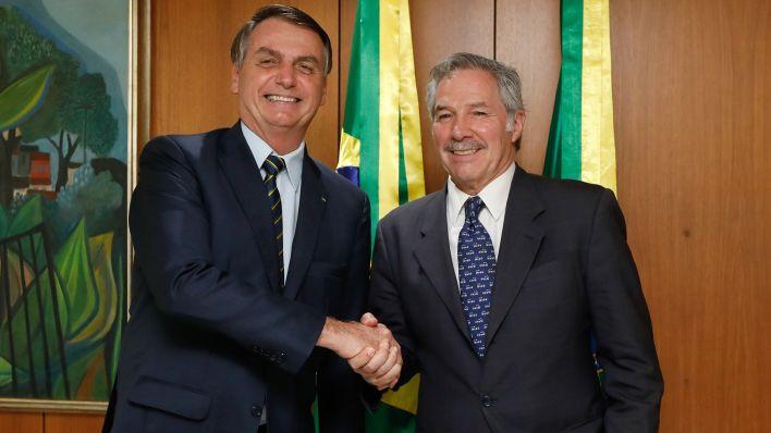(Brasília - DF, 12/02/2020) Presidente da República, Jair Bolsonaro durante encontro com Felipe Solá, Ministro das Relações Exteriores, Comércio Internacional e Culto da Argentina. Foto: Carolina Antunes/PR