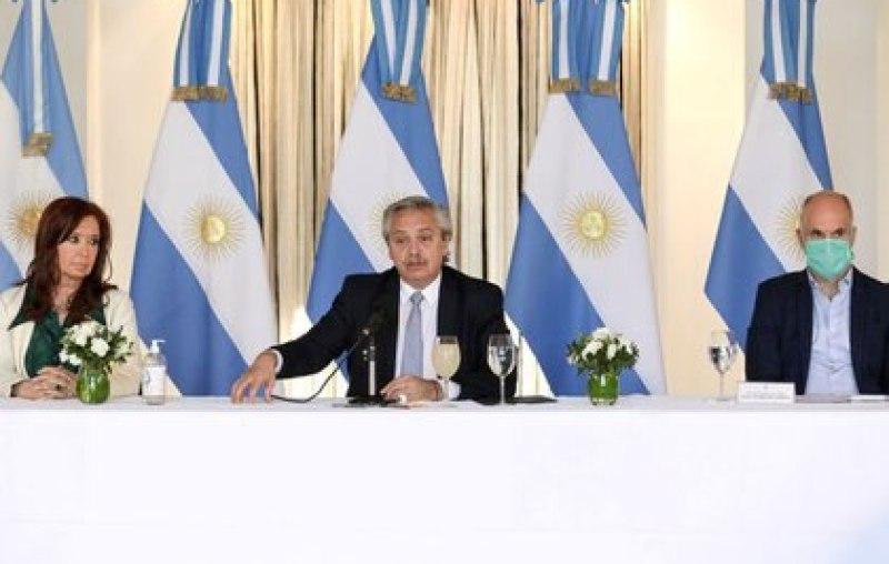 Cristina Kirchner, Alberto Fernández y Horacio Rodríguez Larreta