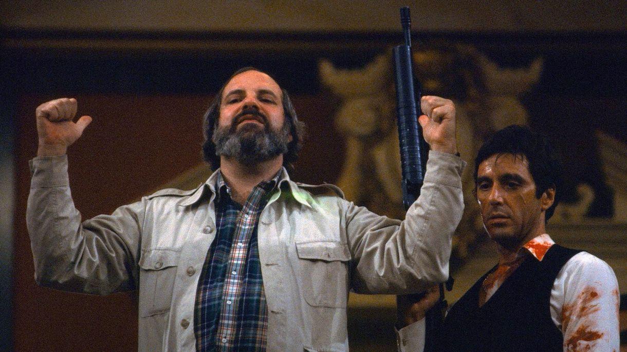 """Brian De Palma y Al Pacino el el set de """"Scarface"""""""