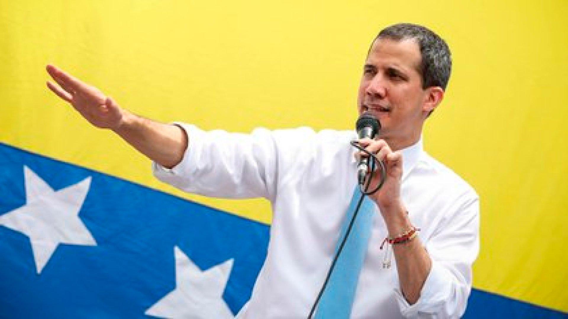 Juan Guaidó, el líder de la oposición al régimen chavista en Venezuela (EFE/ Rayner Peña R/Archivo)