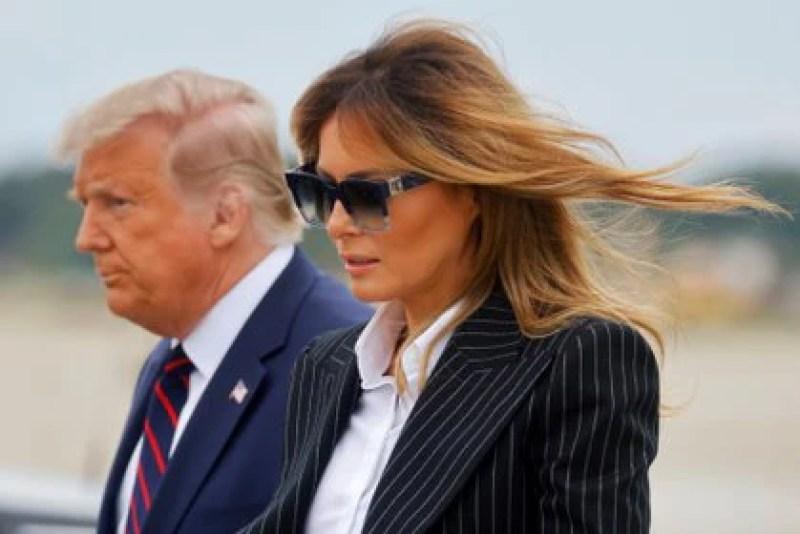 La primera dama Melania Trump también dio positivo por Covid-19 (REUTERS/Carlos Barria)