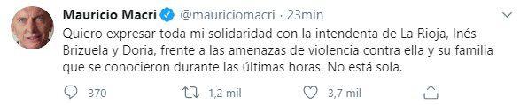 Mauricio Macri en Twitter