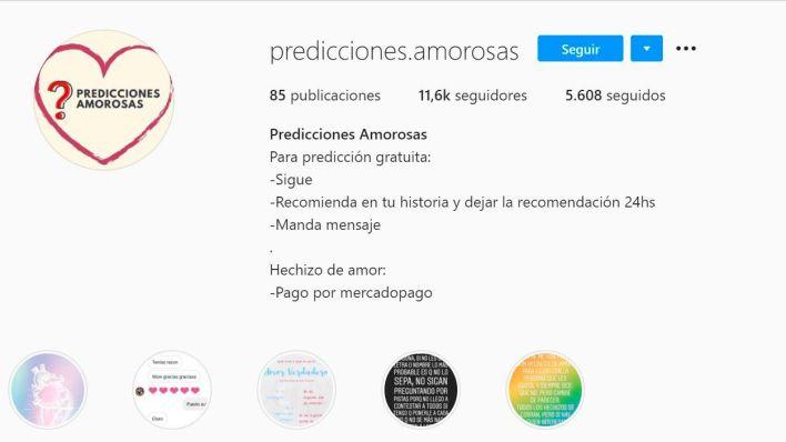 PREDICCIONES AMOROSAS PERFIL PEDOFILO DE INSTAGRAM