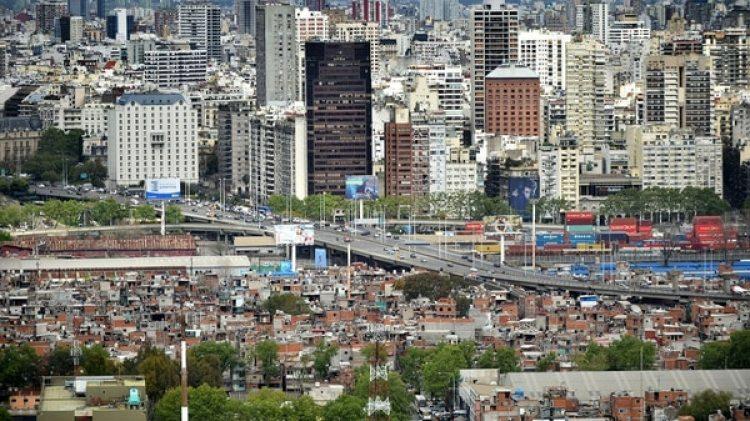 La villa 31 vista desde el aire (Adrián Escandar)