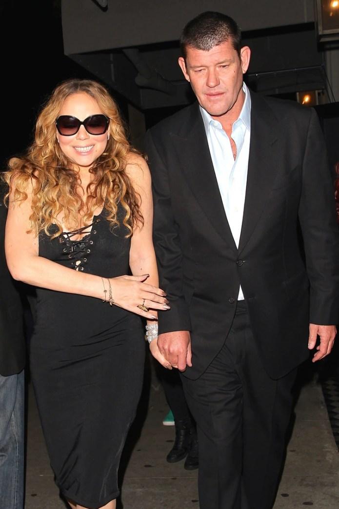 Mariah Carey con el multimillonario australiano James Packer (The Grosby Group)