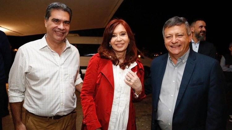 Jorge Capitanich, Cristina Kirchner y Domingo Peppo