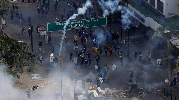 La marcha del lunes fue reprimida por el régimen militar de Nicolás Maduro (Reuters)