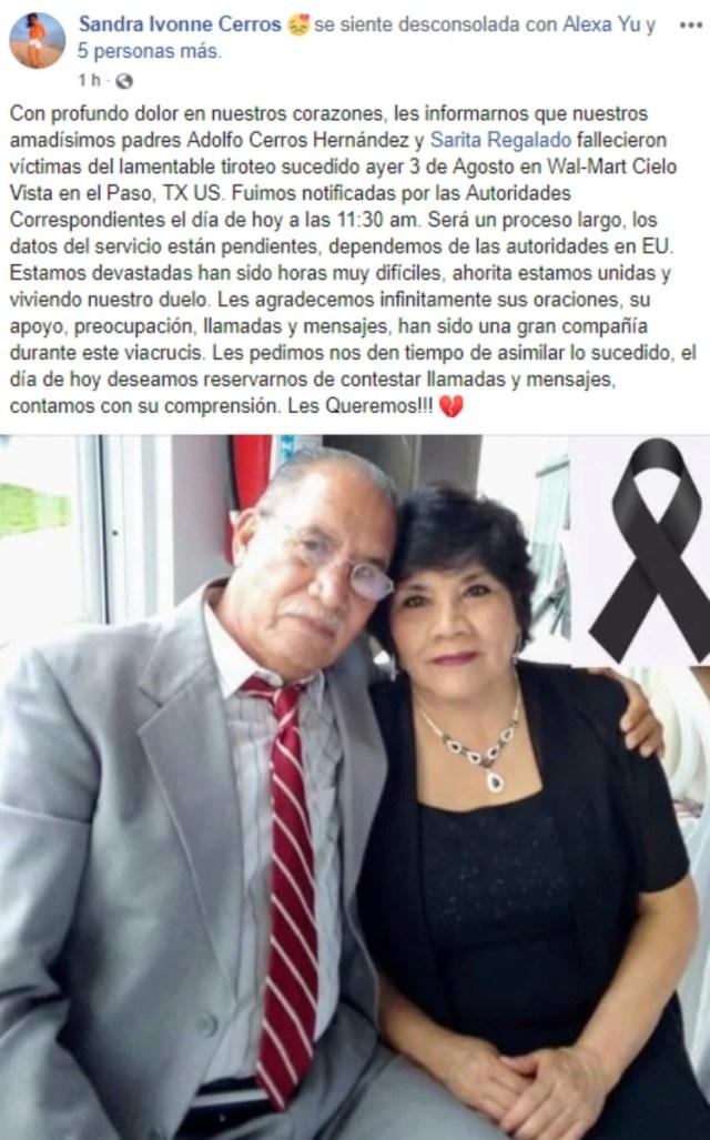 Una pareja de mexicanos que murió en el ataque (Foto: Archivo)