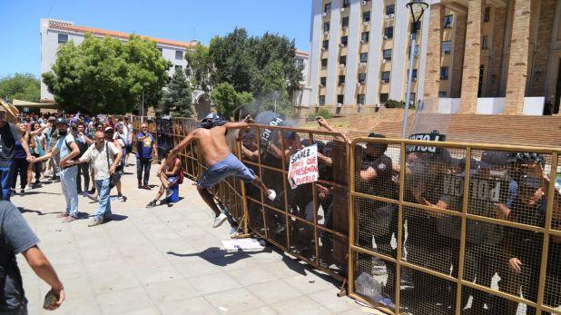 Los incidentes durante una de las protestas