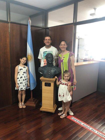 En el consulado argentino en España