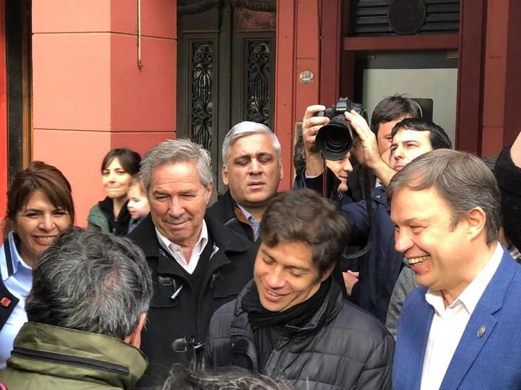 Felipe Solá, Axel Kicillof y Mariano Cascallares en una recorrida donde también estuvieron Alberto Fernández y Martín Insaurralde