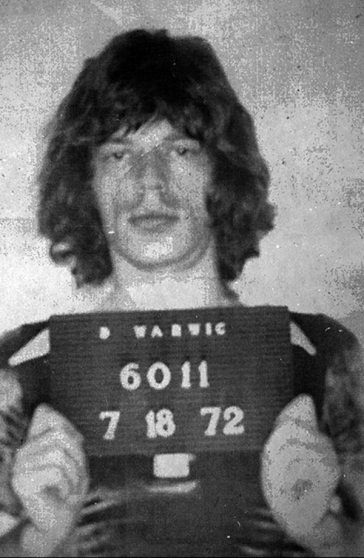 Mick Jagger fue arrestado en julio de 1972. (Uso de dominio publico)