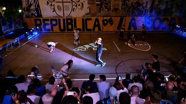 Freestyle Fútbol Show, presente en el evento que se montó en La Boca (Gustavo Gavotti)