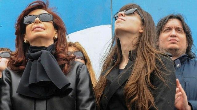 Cristina Kirchner junto a su hija Florencia (NA)