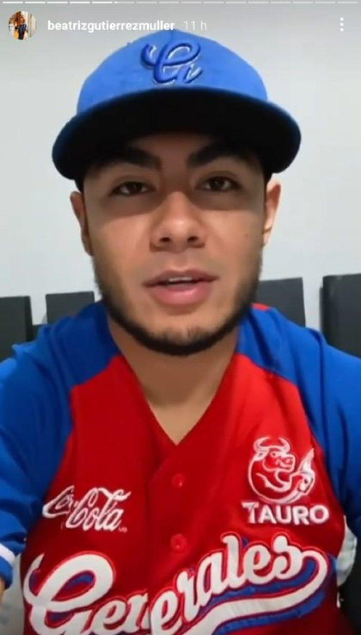 Algunos beisbolistas también le enviaron un video para animar al presidente (Foto: Instagram@/beatrizgutierrezmuller)