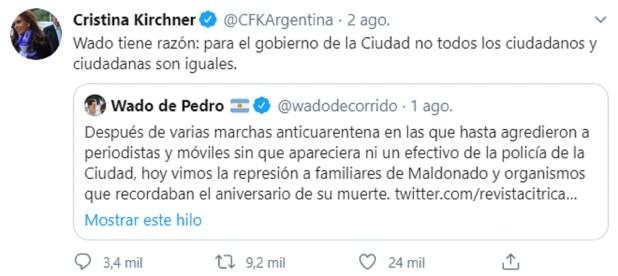 Cristina Kirchner - ciudad - Larreta