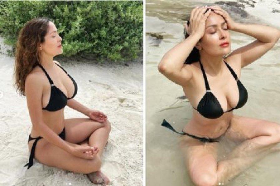 """La actriz mexicana acaba de celebrar sus 17 millones de seguidores en Instagram y ahora invitó """"mantener la calma"""" pero en bikini. (Foto: Instagram de Salma Hayek)"""