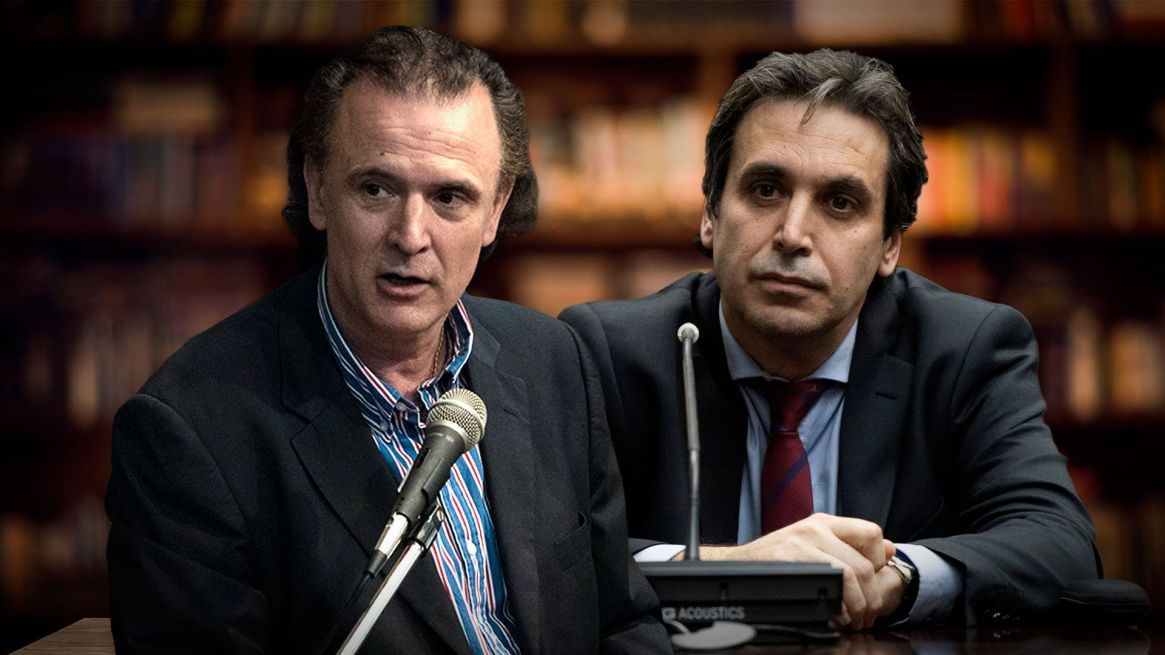 El periodista Dani el Santoro y el juez federal Alejo Ramos Padilla