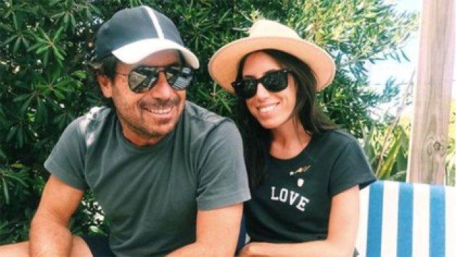 Ricky Sarkany junto a su hija mayor, Sofía