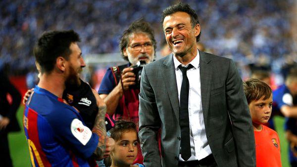 Luis Enrique estuvo tres temporadas en Barcelona y ganó 9 títulos (Reuters)