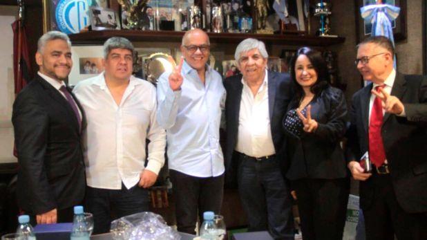Hugo y Pablo Moyano se reunieron con Jorge Rodríguez Gómez en el sindicato de Camioneros.