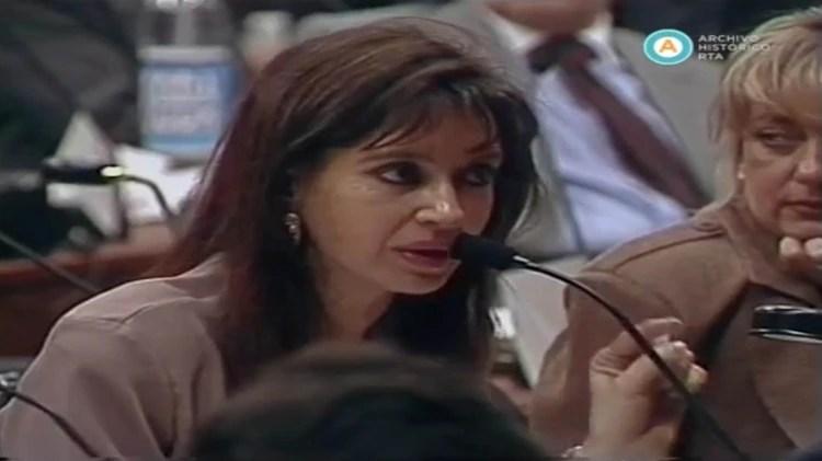 Cristina Kirchner,en la mencionada Convención
