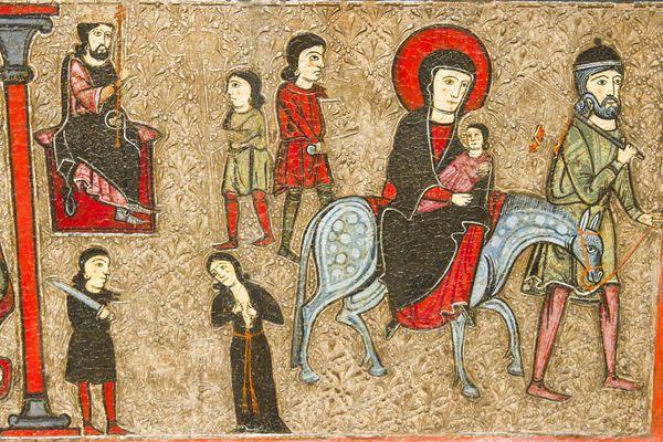 Herodes persigue a Jesús, que es llevado por sus padres a Egipto