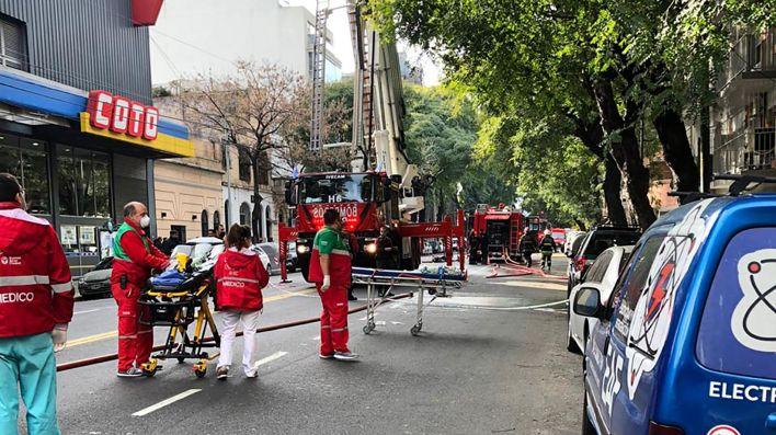 Incendio en Caballito Pedro Goyena