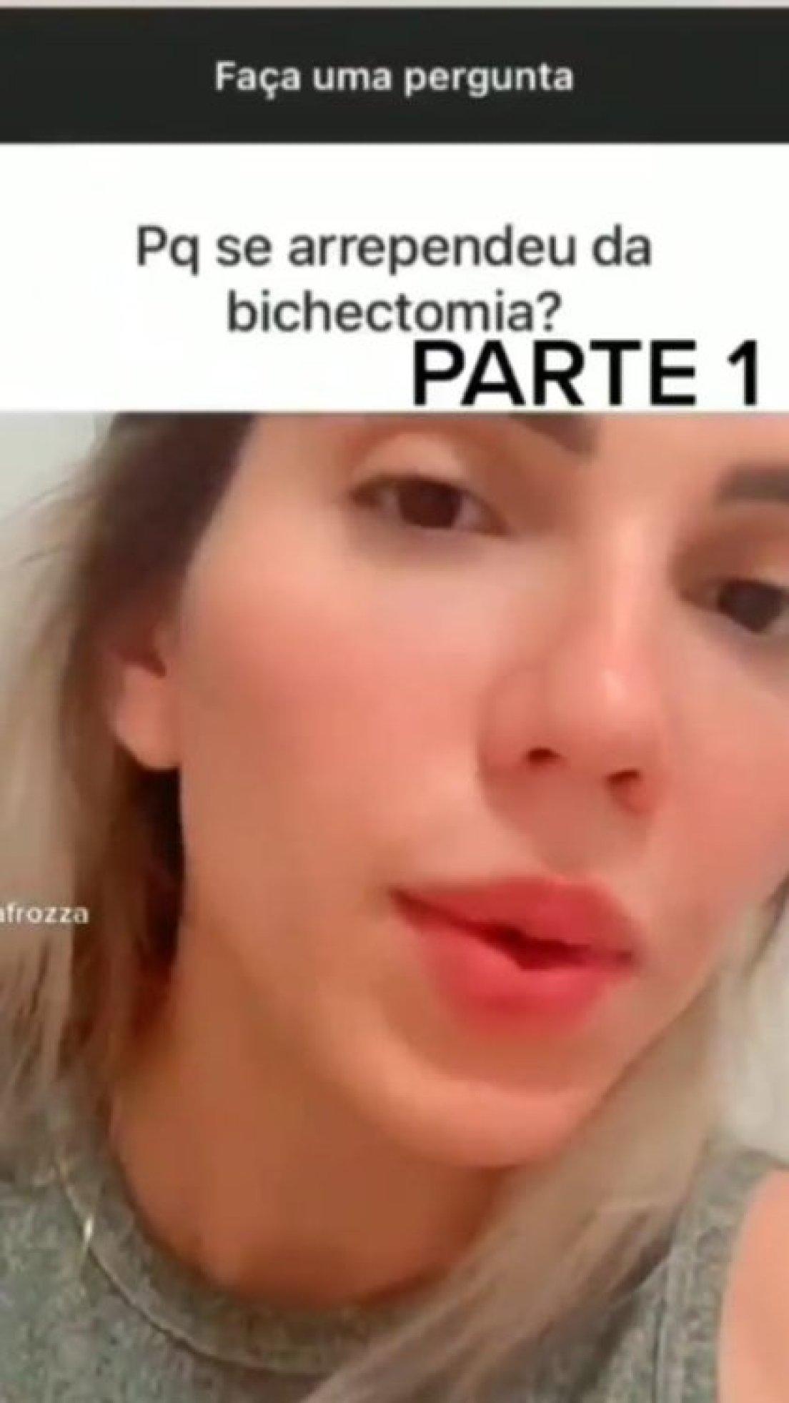 La tiktoker comentó a través de un video que se arrepiente de haberse realizado la bichectomía y que hasta el día de hoy sigue en tratamiento para mejorar la apariencia de su rostro (Foto: Captura de pantalla/ Instagram @mafaldamc2019)