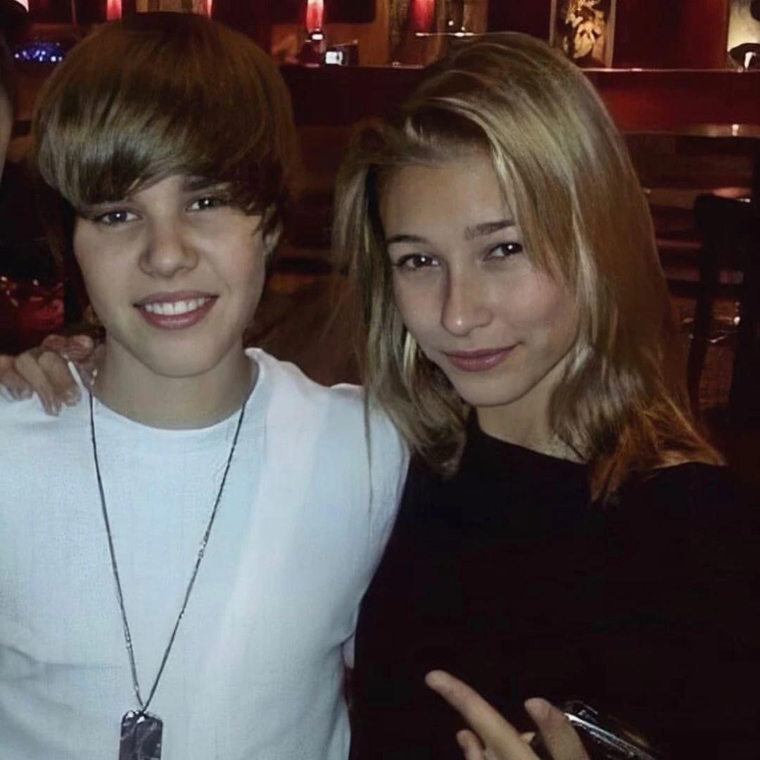 Justin Bieber y Hailey Baldwin cuando eran adolescentes (IG: justinbieber)