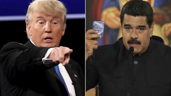 Trump presiona cada vez más al régimen de Maduro
