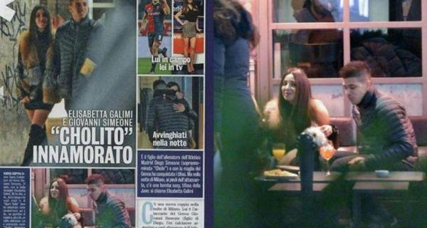 La prensa italiana asegura que el hijo de Diego Simeone tiene una nueva pareja