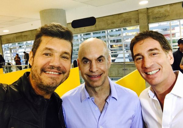 Marcelo Tinelli, Horacio Rodríguez Larreta y Diego Santilli