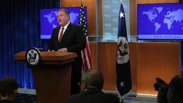 El informe sobre derechos humanos fue presentado por Mike Pompeo (AFP)