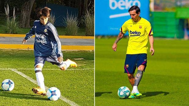 Luka Romero Lionel Messi 1920