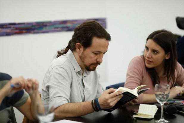 Iglesias y Montero en una reunión (Europa Press)