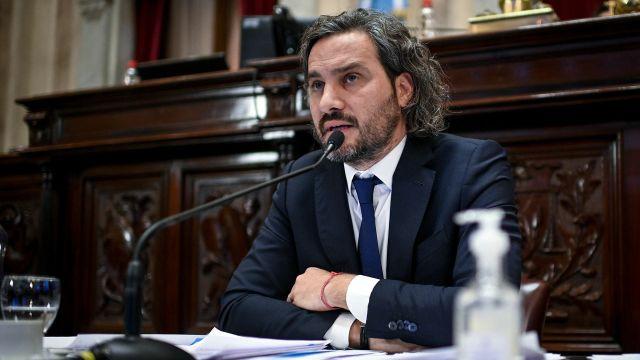 Sesión Informativa del Jefe de Gabinete de Ministros de la Nacion, Santiago Cafiero, en el recinto del Senado de la Nacion, el 3 de Junio de 2021, en Buenos Aires, Argentina.