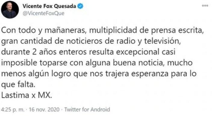 La reciente crítica de Fox a López Obrador