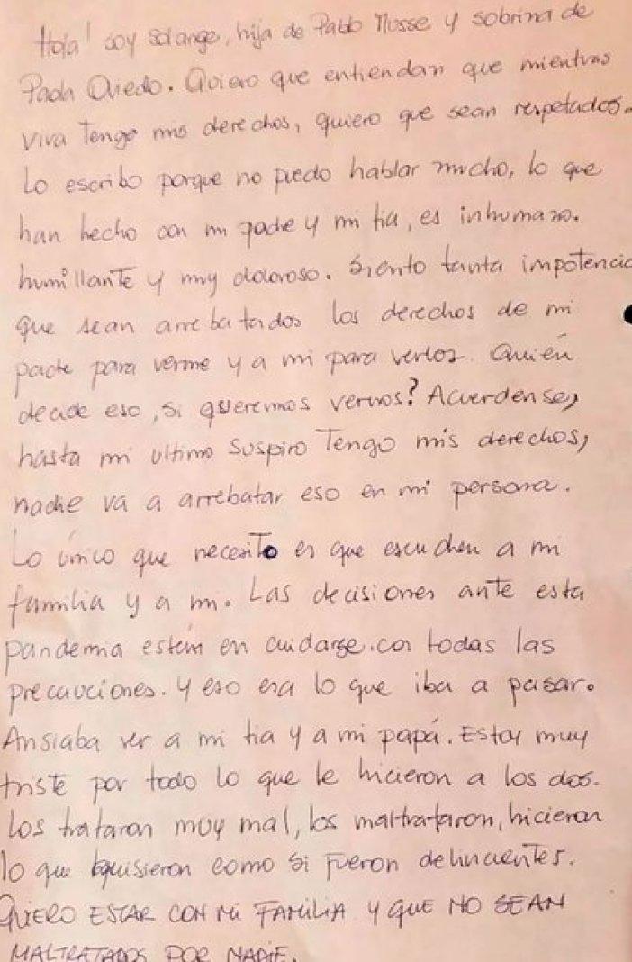 La carta de Solange.