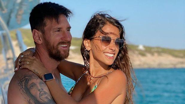 Antonela Roccuzzo y Messi