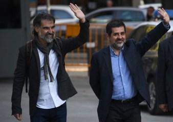 Jordi Sánchez y Jordi Cuixart (AFP)