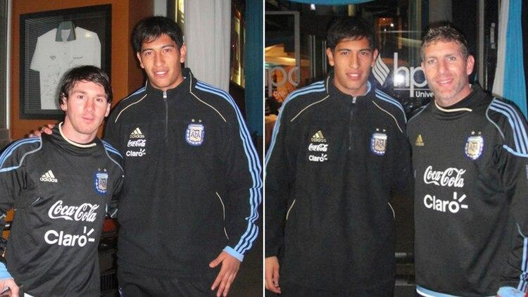 Con Messi y Palermo, cuando fue de sparring al Mundial de Sudáfrica 2010