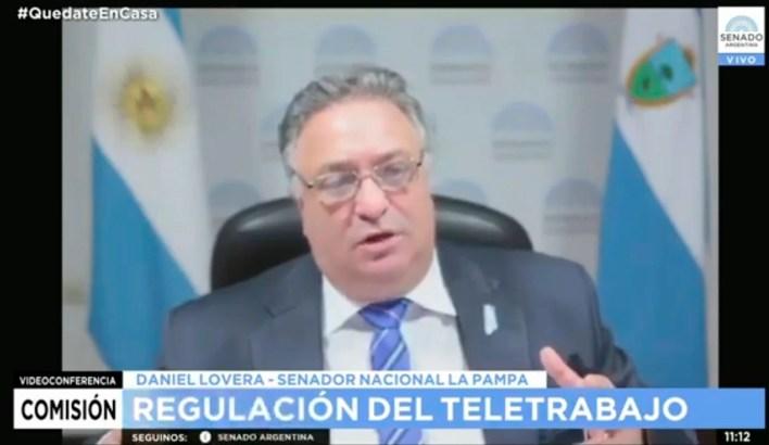 Daniel Lovera, presidente de la Comisión de Trabajo del Senado, anuncia que no van a modificar el proyecto sobre teletrabajo